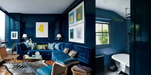 Navy Blue Home Inspiration via Remodelaholic