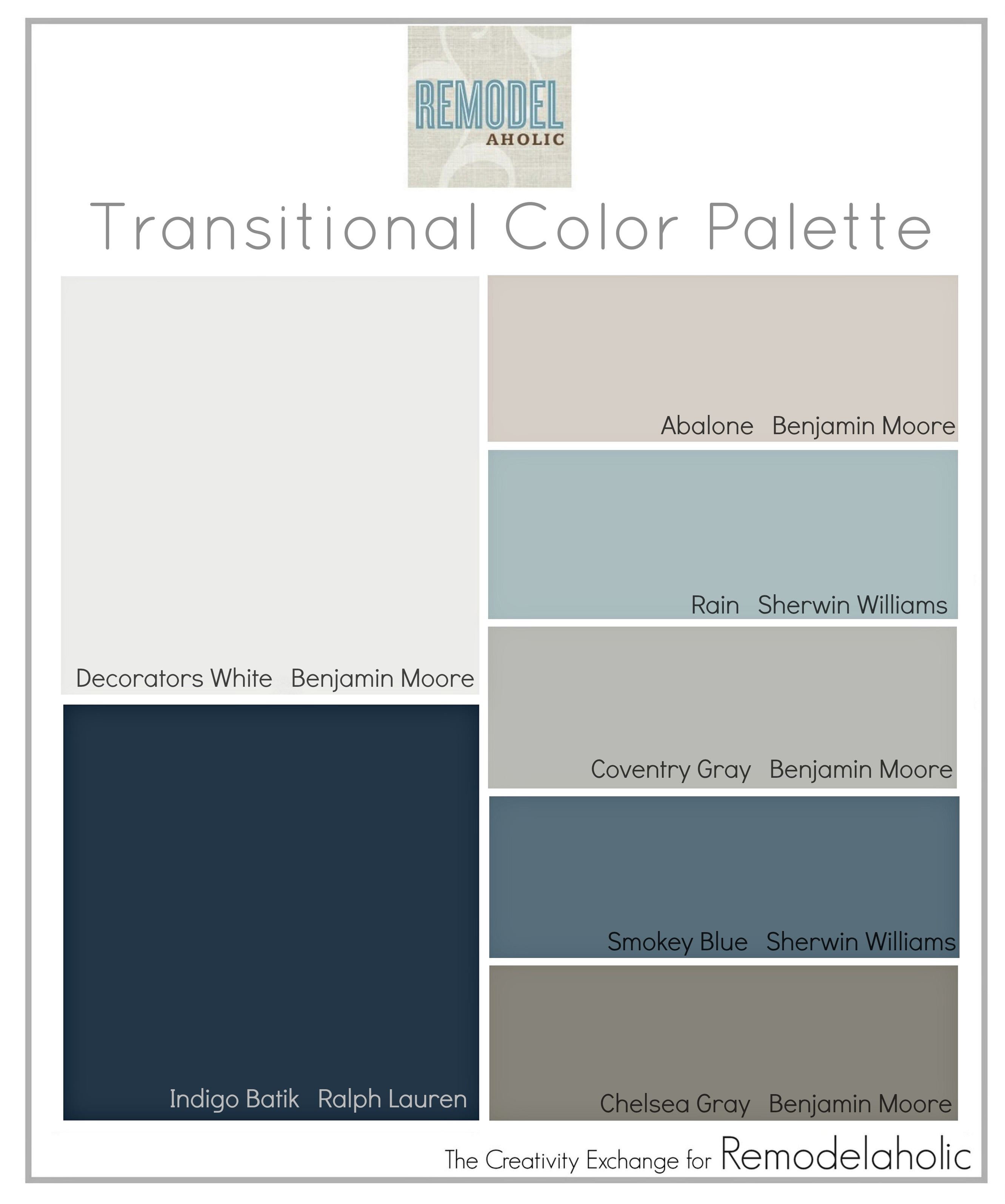 Color Palette Paint Colors That Are Great For Mixing Warm And Cool