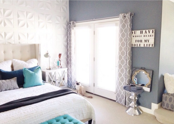 Panel Wall redo, dark to bright white by Mesmerizing Moments featured on @Remodelaholic