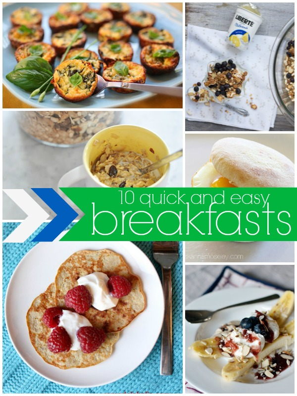 Quick and Easy Breakfast Ideas via Remodelaholic.com #cooking #recipes #onthego #makeahead