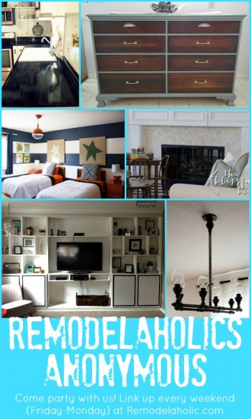 Remodelaholics Anonymous link party features Jan 17