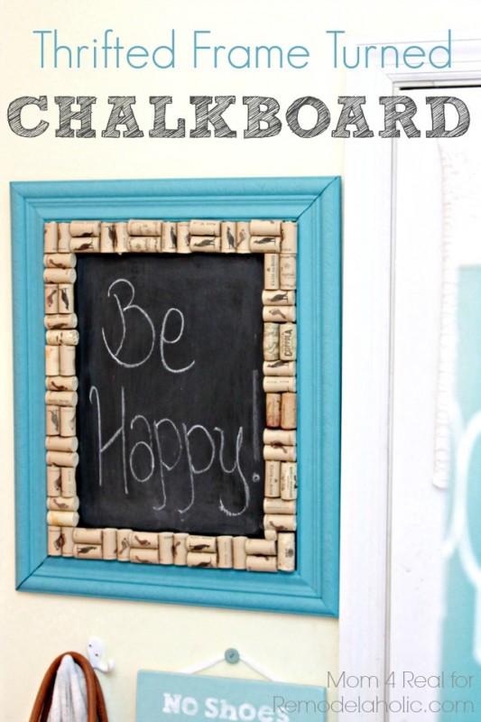 Thrifted Frame Turned Chalkboard