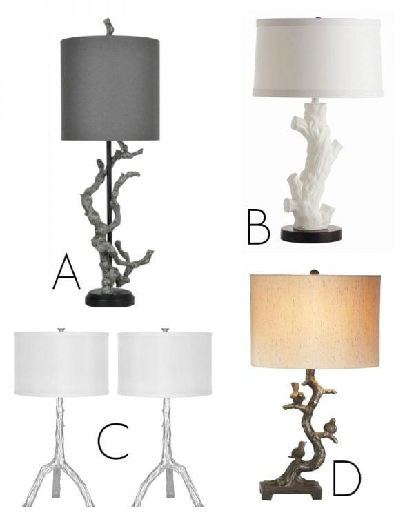 Tree Branch Inspired Lamps via Remodelaholic.com