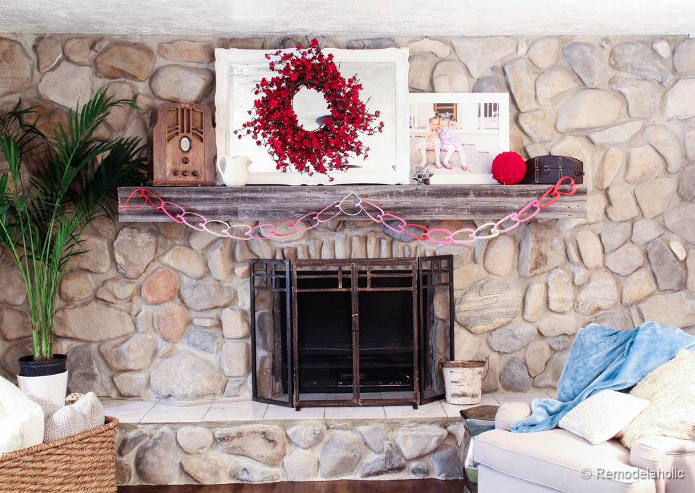 Valentines Mantel and A Weird Use for a Fireplace…