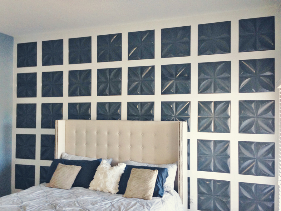 Feature Wall Using 3D Panels and Board and Batten   Mesmerizing Moments  featured on Remodelaholic. Remodelaholic   Board and Batten Feature Wall with 3D Wall Panels