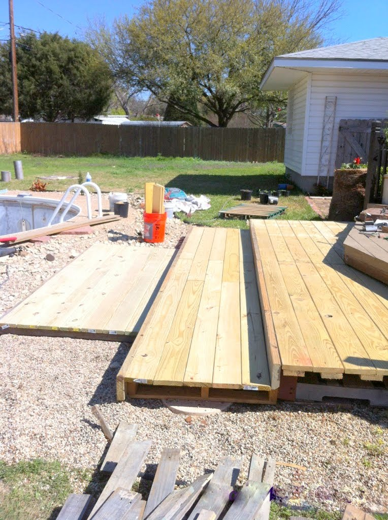 Building A Tiered Walk Out Pallet Patio, The Second Wind Of Texas Featured  On