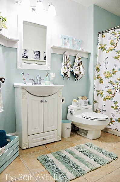 calm blue bathroom makeover, The 36th Avenue