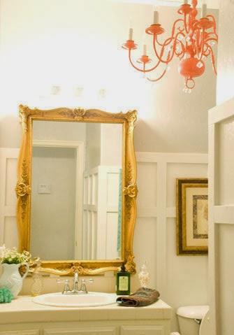 Bathroom Mirror Gold remodelaholic | chic budget bathroom makeover for under $100