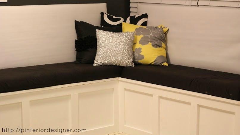 Remodelaholic Build A Custom Corner Banquette Bench