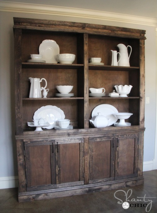 remodelaholic create a kitchen hutch from an 80 39 s wall unit. Black Bedroom Furniture Sets. Home Design Ideas