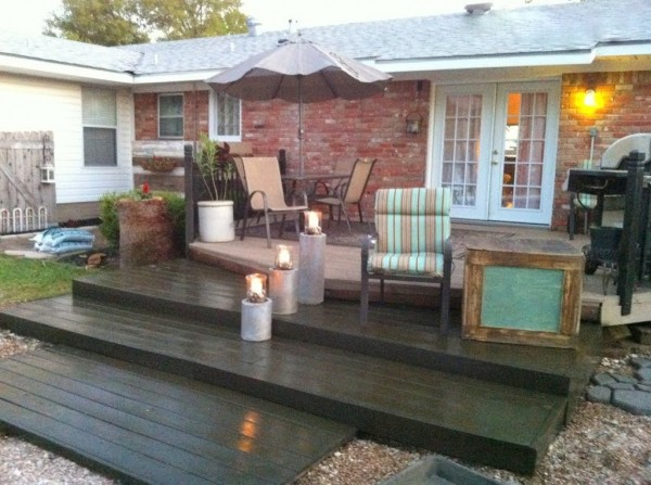 Build a Wooden Pallet Deck for Under $300 | Second Wind of Texas featured on Remodelaholic #palletwood #deck #summer #backyard