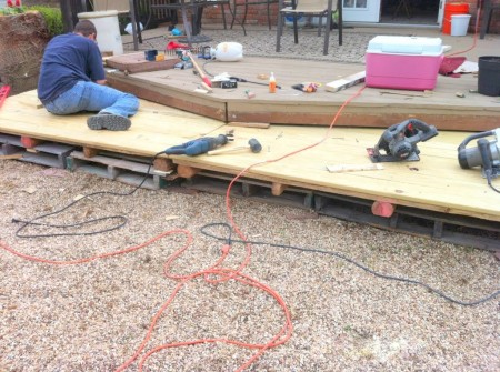 diy wooden pallet deck tutorial, The Second Wind of Texas featured on Remodelaholic