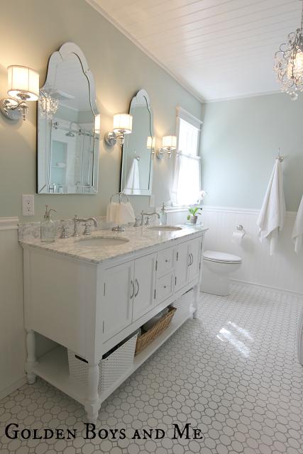Elegant Bathroom Makeovers remodelaholic | chic budget bathroom makeover for under $100