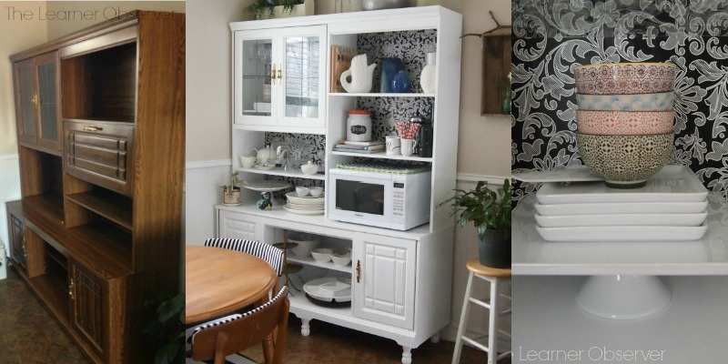 feature kitchen hutch makeover, The Learner Observer featured on Remodelaholic