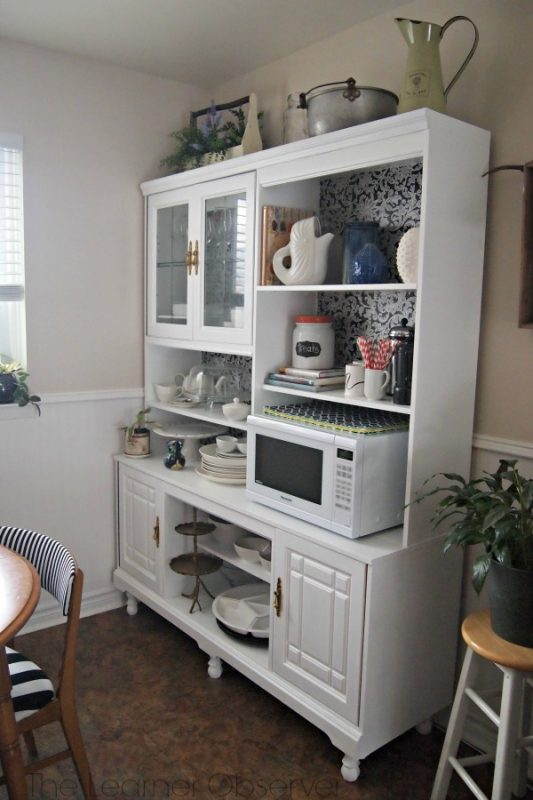 80's Wall Unit to Kitchen Hutch, The Learner Observer featured on Remodelaholic.com #beforeandafter #makeover #storage