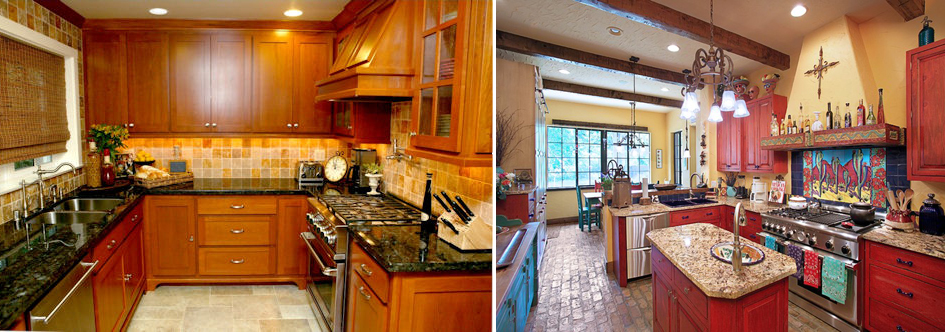 Remodelaholic Home Decor Q A A Southwest Kitchen Brightening A Dark Room And Choosing Paint