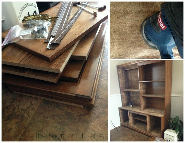 hutch makeover, remove hardware, The Learner Observer featured on Remodelaholic