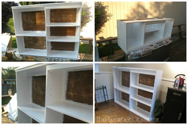 paint and prime kitchen hutch makeover, The Learner Observer featured on Remodelaholic