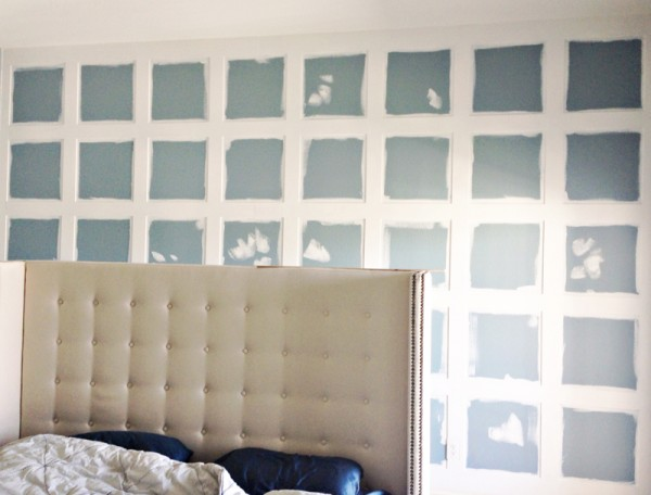 prepping the board and batten for the 3D wall panels feature wall, Mesmerizing Moments featured on Remodelaholic