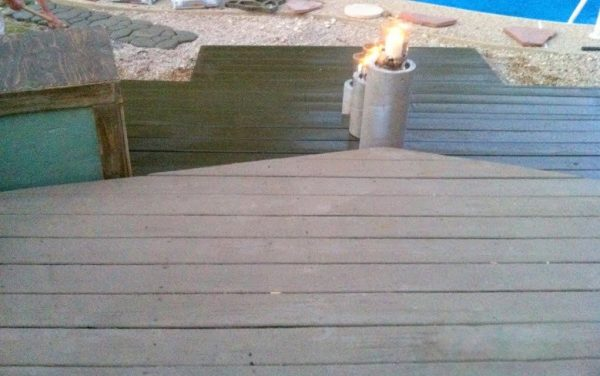 steps on wooden pallet deck, The Second Wind of Texas featured on Remodelaholic