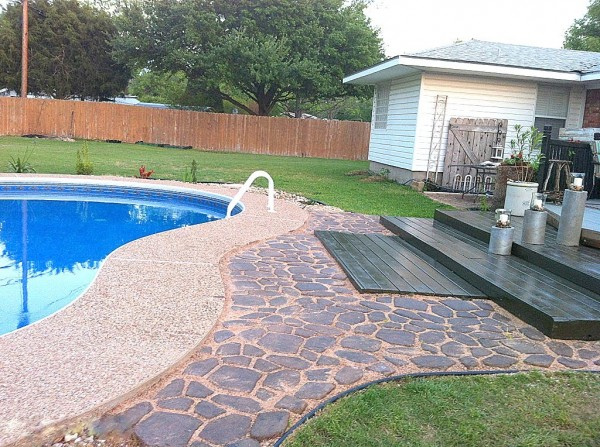 wooden pallet deck finished, The Second Wind of Texas featured on Remodelaholic