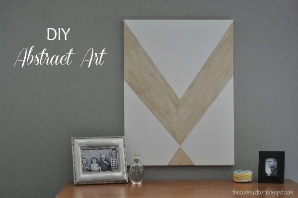 02-07 DIY abstract art, The Colored Door