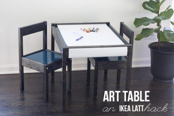 02-07 art table IKEA hack, You're So Martha