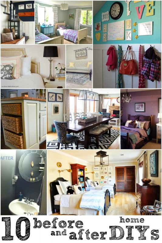 10 Great Before and After Home DIYs via Remodelaholic