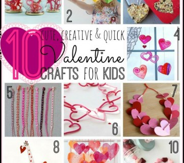 10 Valentine Crafts for Kids - Tipsaholic.com