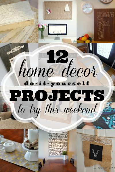 12 Home Decor DIYs to try this weekend via Remodelaholic