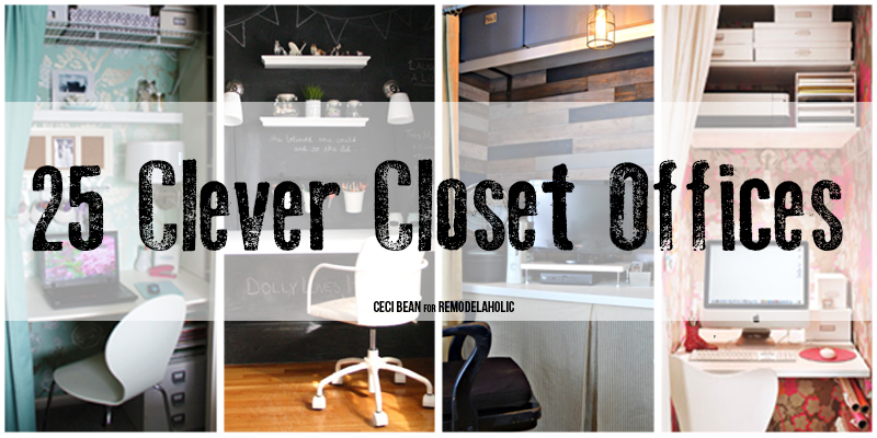 Remodelaholic 25 Clever Closet Offices