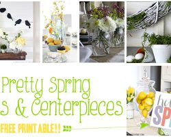 25 spring mantels and centerpieces featured image