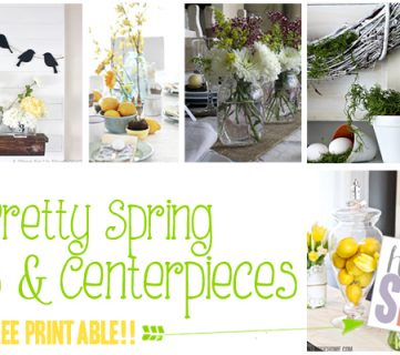 25 Spring Mantels + A Free Spring Printable