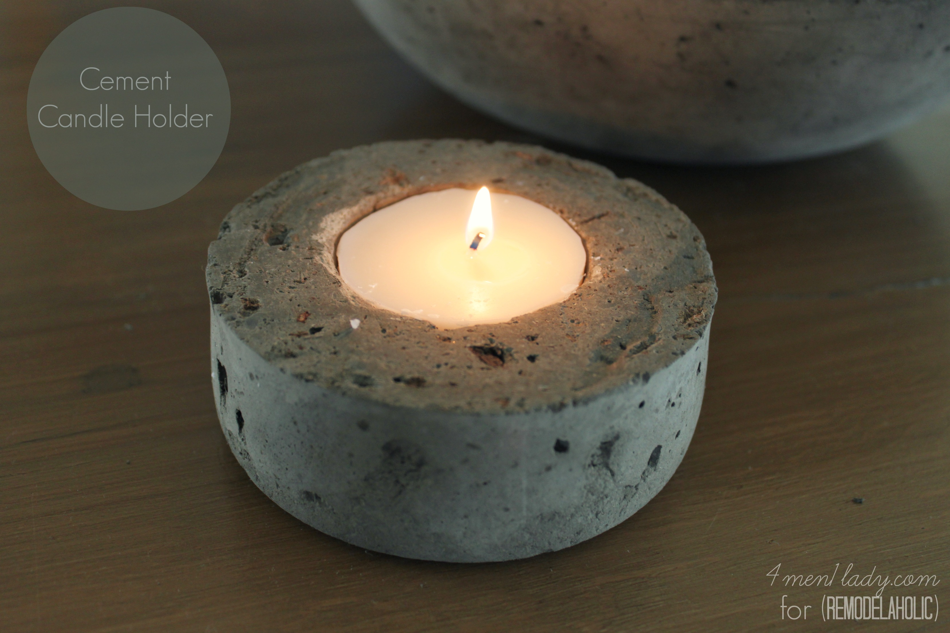4men1lady for Remodelaholic candle