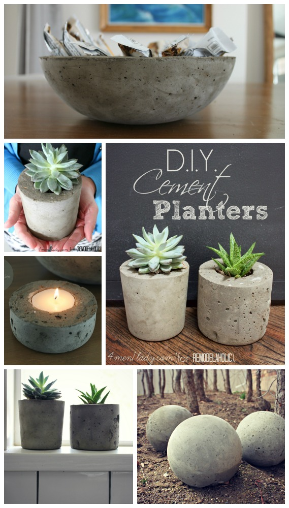 Remodelaholic | DIY Cement Planters and Garden Globes | title