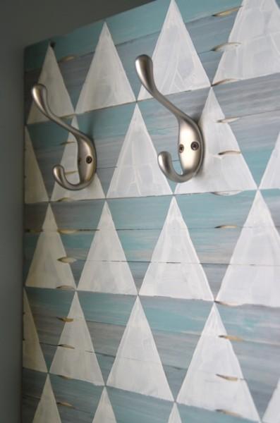 Decorative wood shim wall
