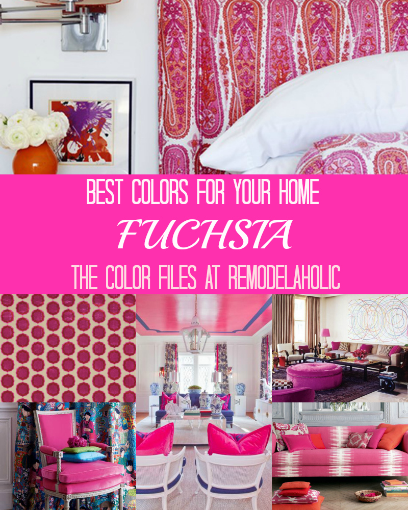 Remodelaholic | Best Colors For Your Home: Fuchsia