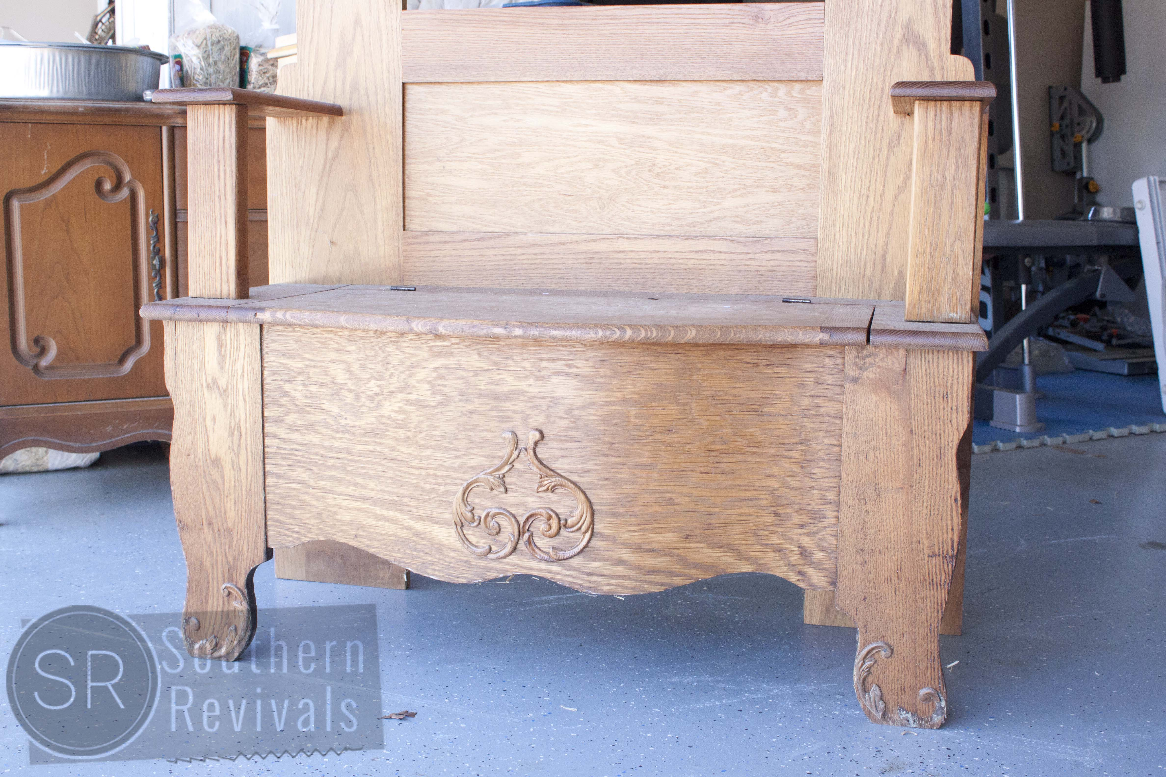 Remodelaholic Reviving An Outdated Hall Tree Bench