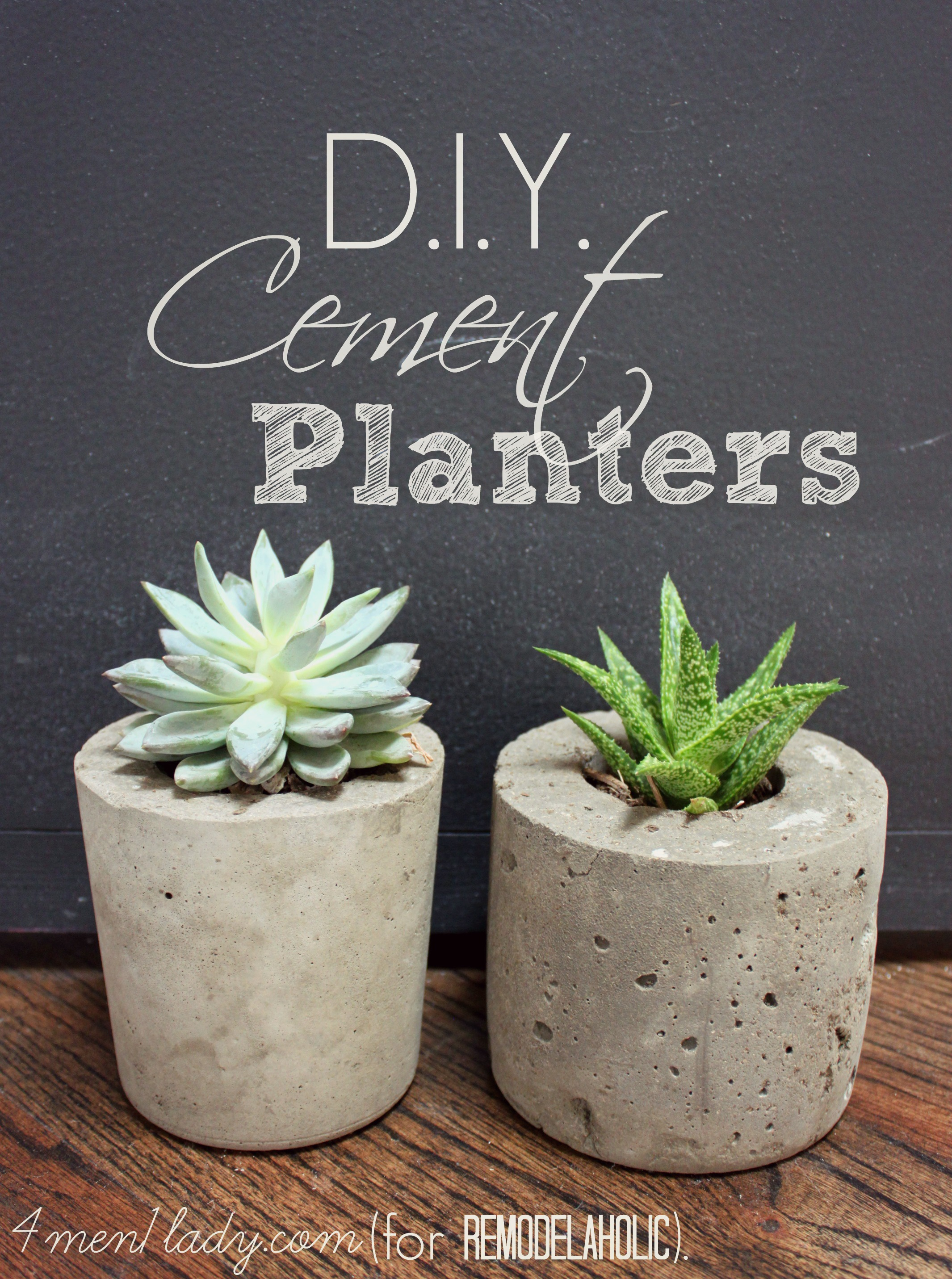 Remodelaholic | DIY Cement Planters and Garden Globes