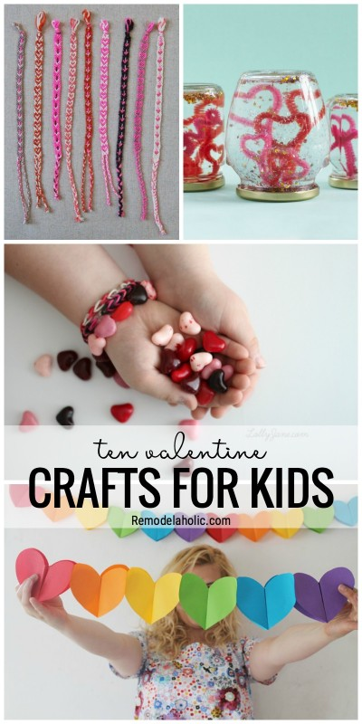 Time To Get Creative And Festive With These 10 Valentine's Day Crafts For Kids Featured On Remodelaholic.com