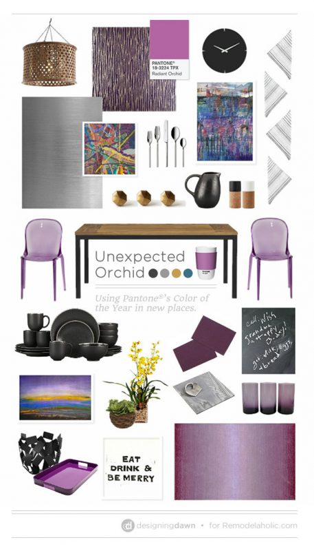 Unexpected Orchid - DesigningDawn for Remodelaholic
