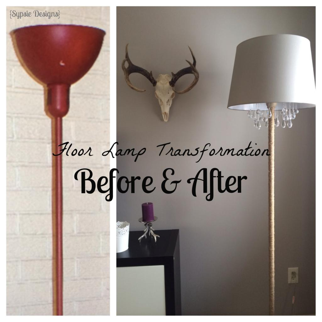 Remodelaholic upcycled diy chandelier lamp before and after chandelier floor lamp sypsie designs featured on remodelaholic mozeypictures Image collections