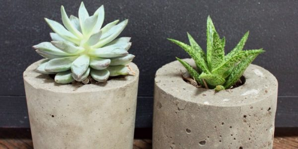 cement planters on Remodelaholic