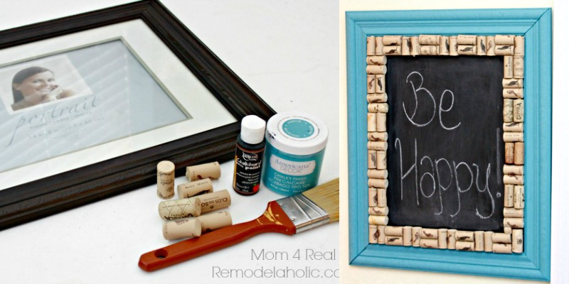 Thrifted Picture Frame Turned Chalkboard
