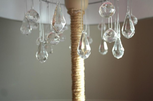 chandelier lamp diy tutorial, Sypsie Designs featured on Remodelaholic