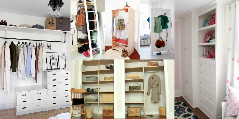 Remodelaholic 14 creative closet solutions to organize and add storage space