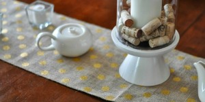 feature burlap table runner, The Colored Door