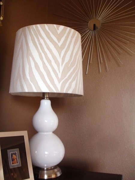hand painted lamp shade, featured on Remodelaholic