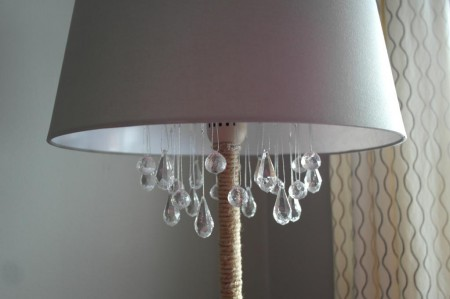 how to turn a floor lamp into a chandelier, Sypsie Designs featured on Remodelaholic