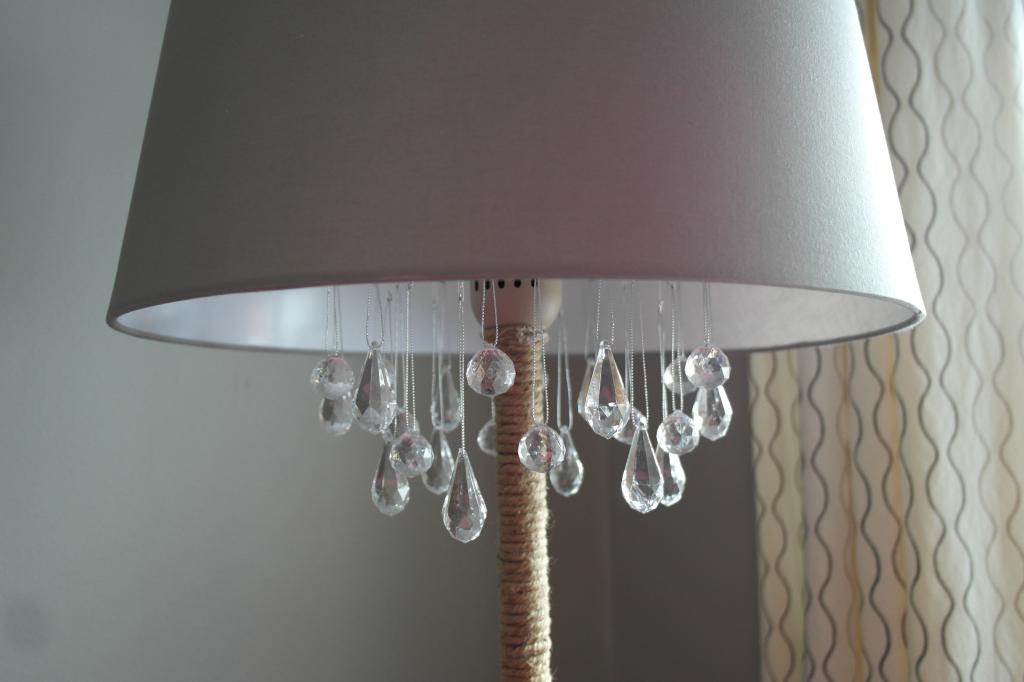 Cute how to turn a floor lamp into a chandelier Sypsie Designs featured on Remodelaholic
